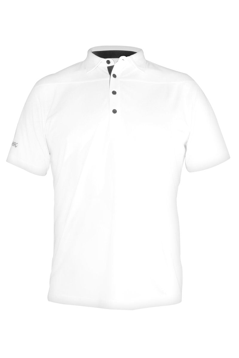 Tech Shirt 1 - White - Cool Dry - Moisture Managed - Fitted
