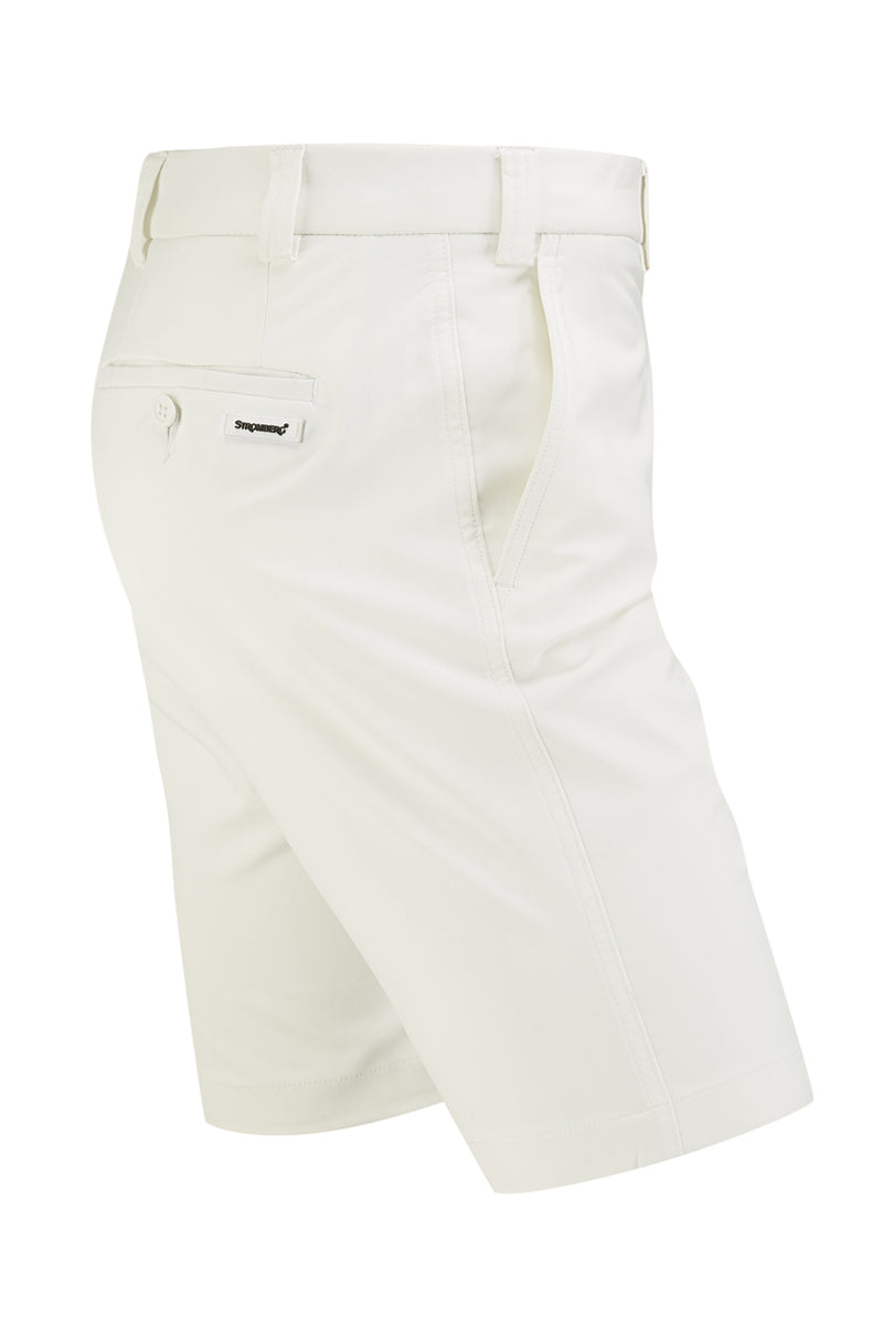 Hampton Short - White Technical Stretch Short - Tapered Fit