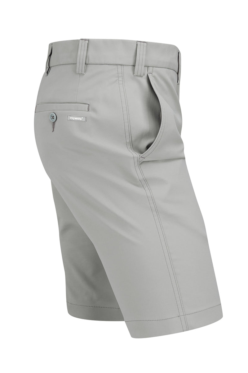 Hampton Short - Light Grey Technical Stretch Short - Tapered Fit