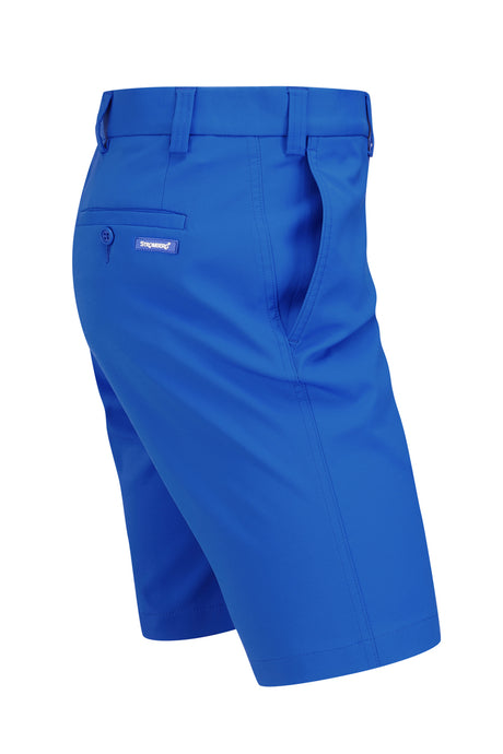 Hampton Short - Blue Technical Stretch Short - Tapered Fit