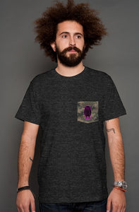 The Owl - Camo Pocket Tee Black