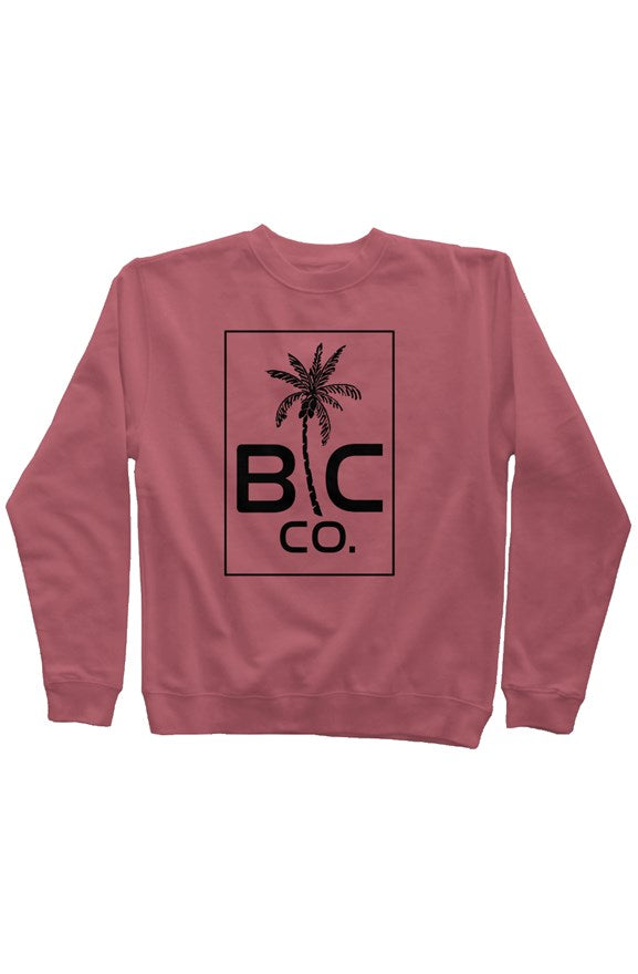 BC Co. - Maroon Pigment Dyed Crew Neck