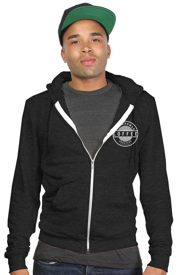 BCR - Charcoal Black Tri-Blend Zip Hoodie