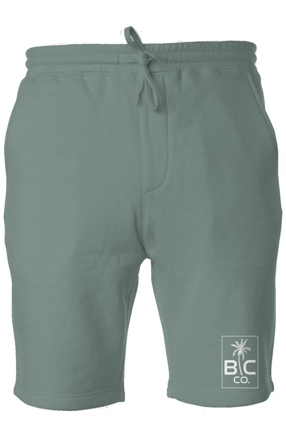 BC Co. - Alpine Green Pigment Dyed Fleece Shorts