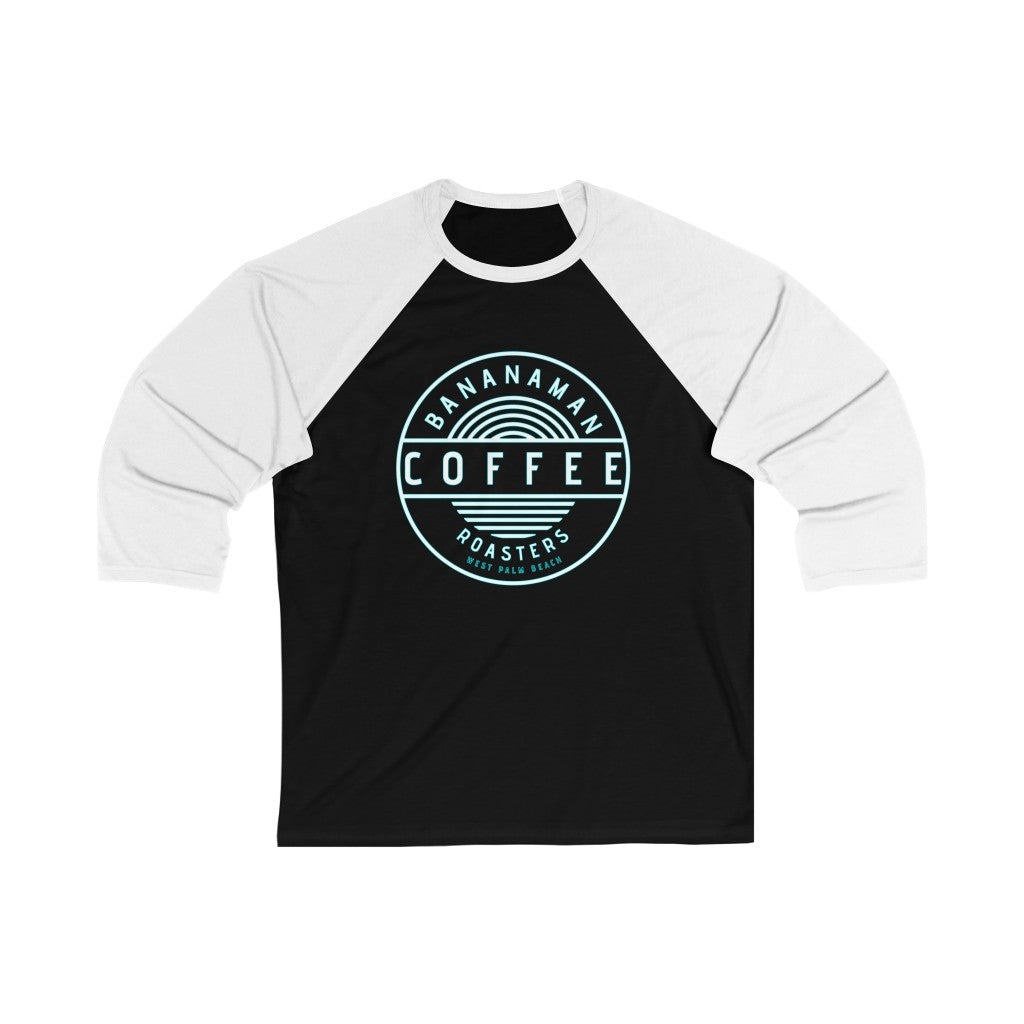 Bananaman Coffee - Unisex 3/4 Sleeve Baseball Tee