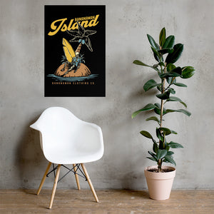The Castaway Surfer - Wall Poster