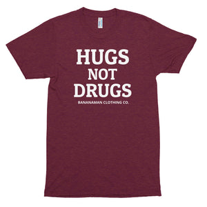 Hugs Not Drugs - Unisex Tri-Blend Track Shirt