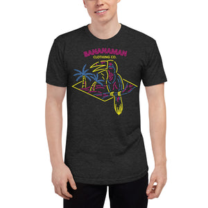 The Neon Parrot - Unisex Tri-Blend Track Shirt