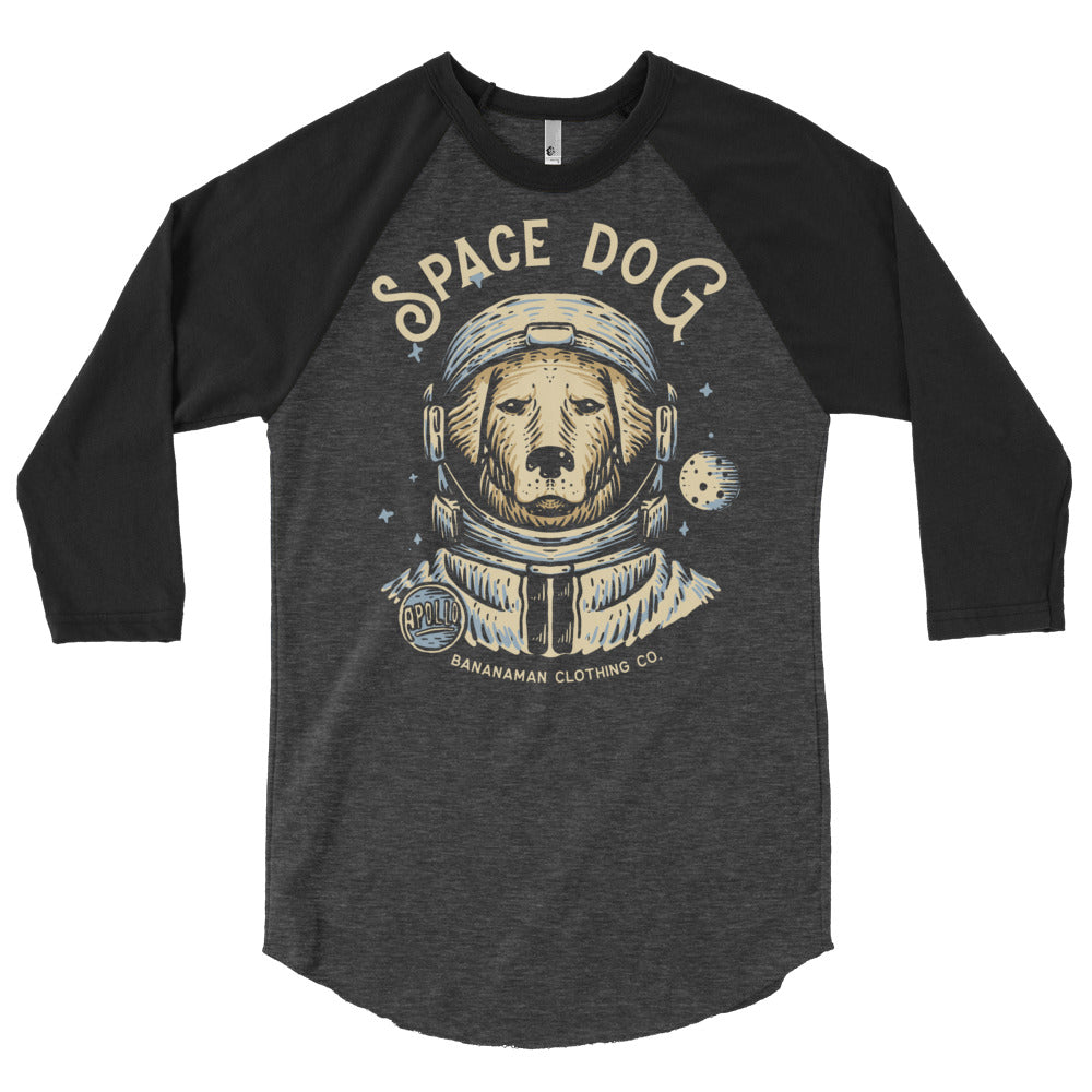 Space Dog - 3/4 sleeve raglan shirt