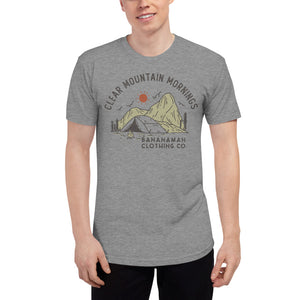 Clear Mountain Mornings - Unisex Tri-Blend Track Shirt