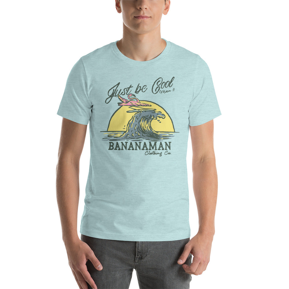The Surfing Flamingo - Short-Sleeve Unisex T-Shirt