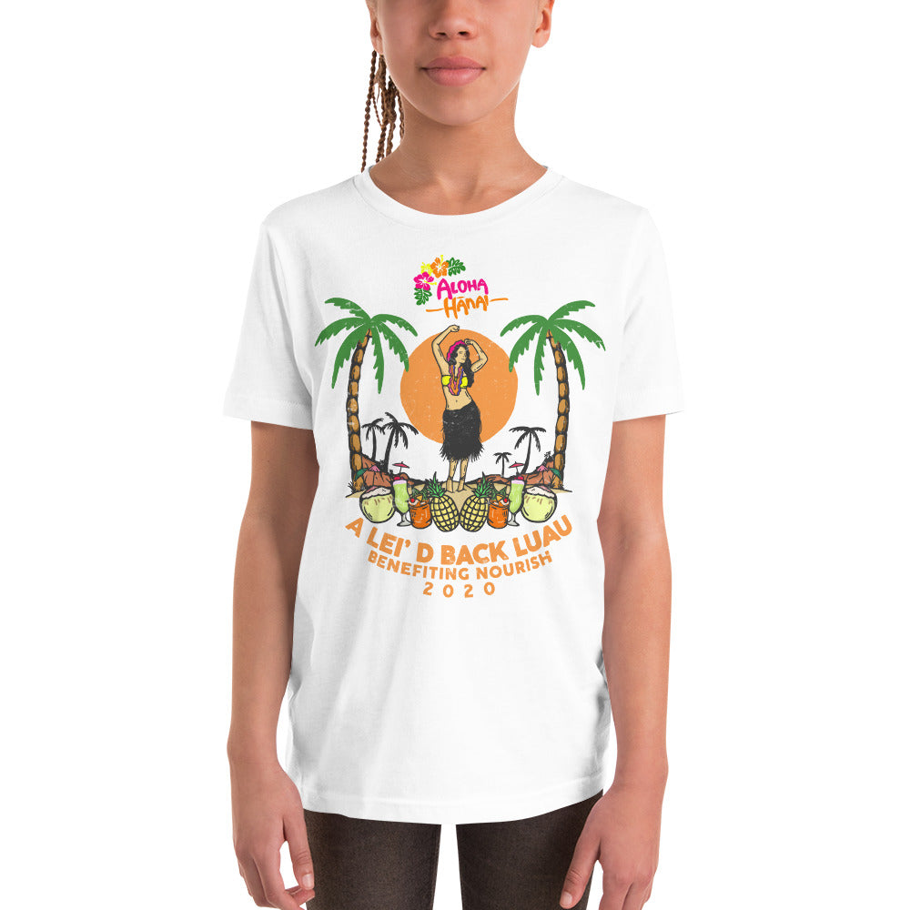 Lei'd Back Luau for Nourish - Youth Short Sleeve T-Shirt
