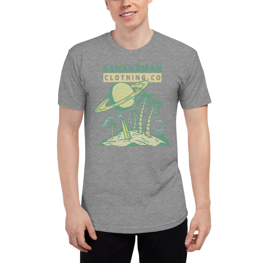 The Saturn Sunset - Unisex Tri-Blend Track Shirt