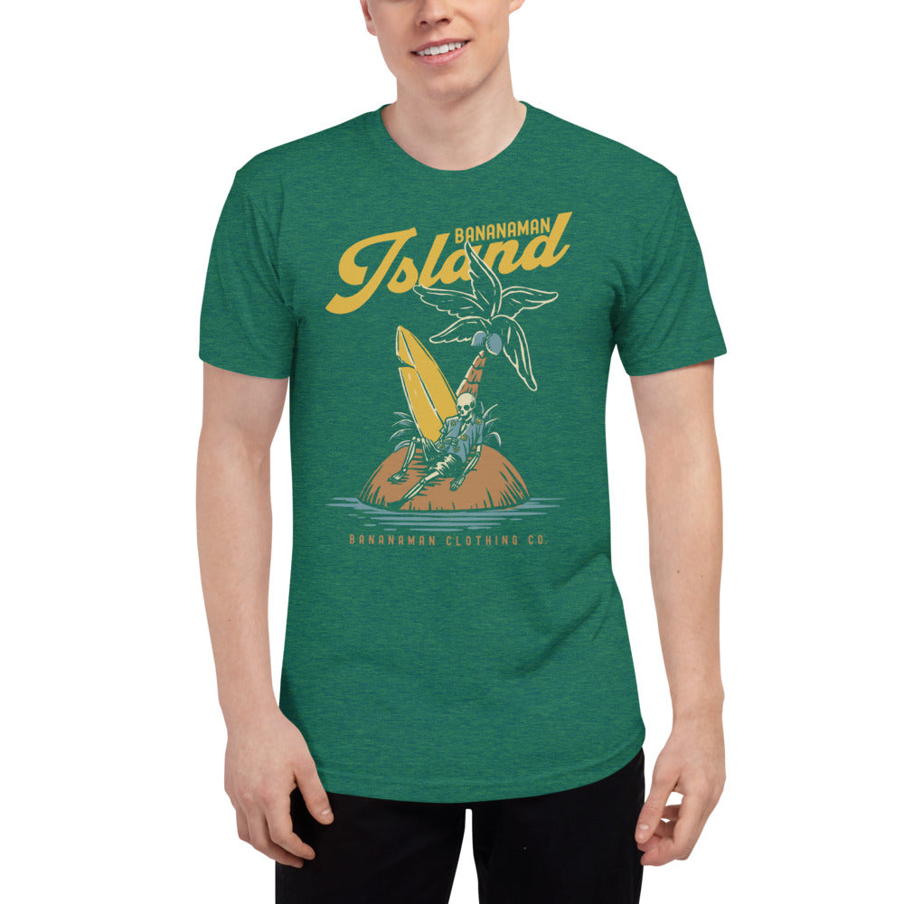 The Castaway Surfer - Unisex Tri-Blend Track Shirt