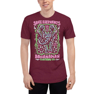 The Elephant - Unisex Tri-Blend Track Shirt