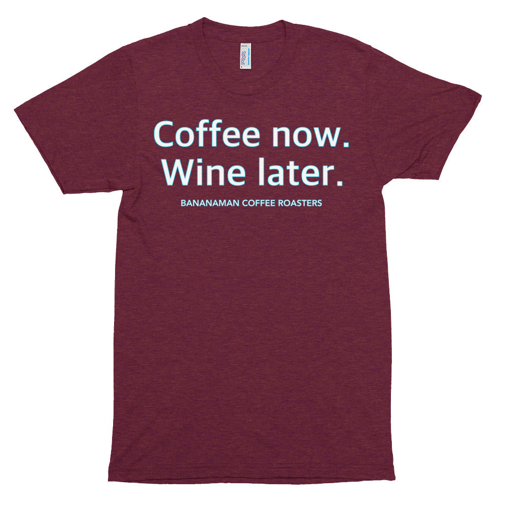 Coffee Now - Unisex Tri-Blend Track Shirt