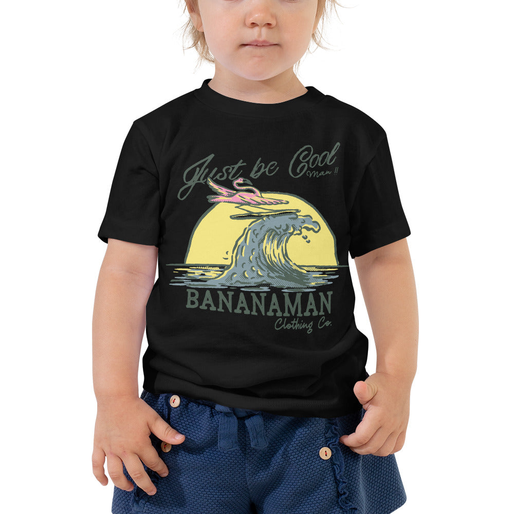 The Surfing Flamingo - Toddler Short Sleeve Tee