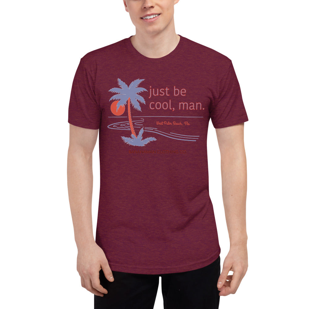 Just Be Cool - Unisex Tri-Blend Track Shirt
