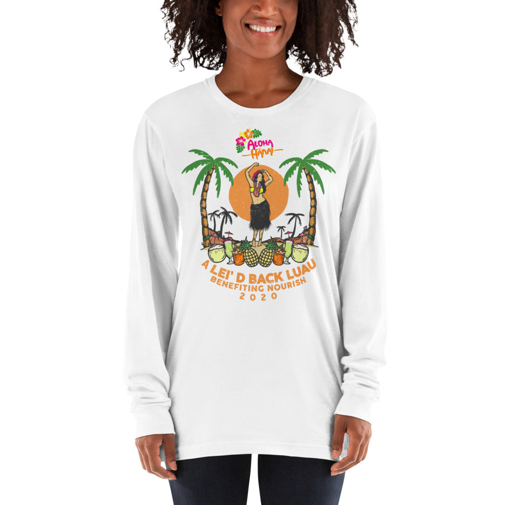 Lei'd Back Luau for Nourish - Long sleeve t-shirt