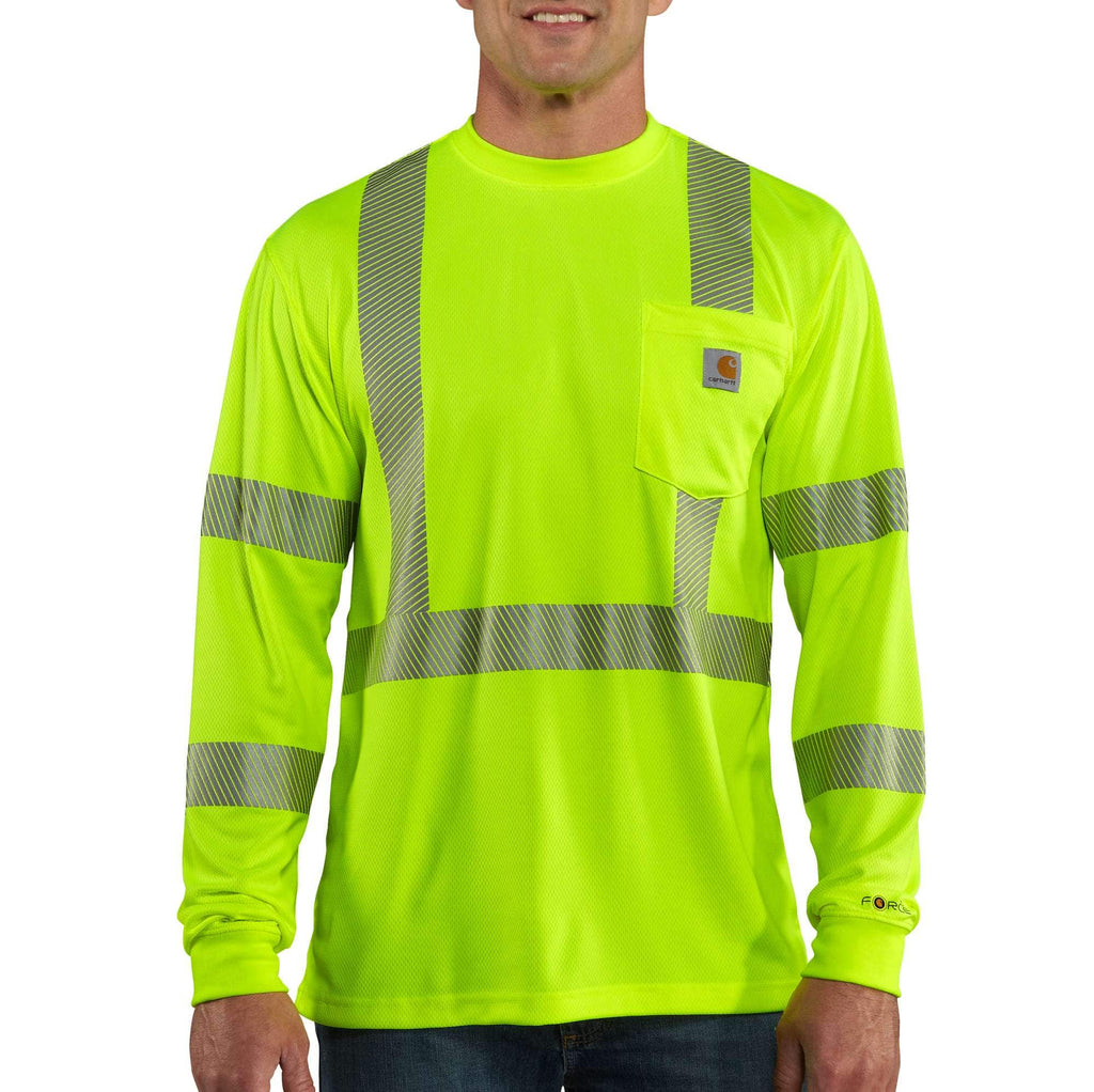 CARHARTT FORCE® HIGH-VISIBILITY LONG-SLEEVE CLASS 3 T-SHIRT 100496