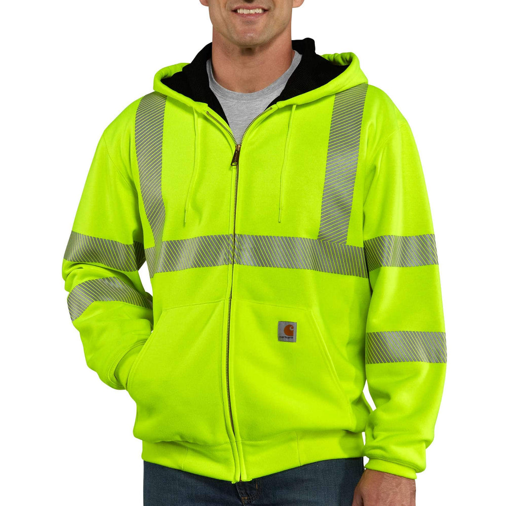 HIGH-VISIBILITY ZIP-FRONT CLASS 3 THERMAL-LINED SWEATSHIRT 100504