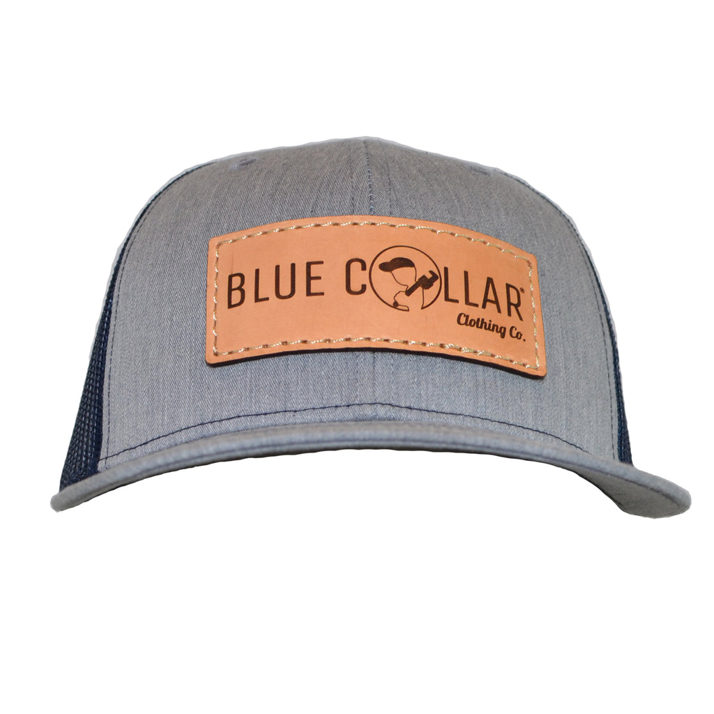 Blue Collar Clothing Co. Full Logo Trucker Hat Heather Gray/Navy 112
