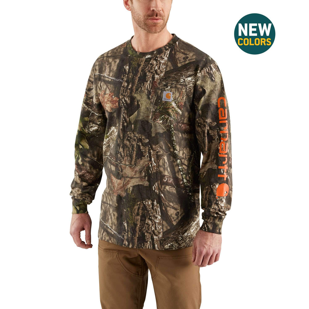WORKWEAR GRAPHIC CAMO SLEEVE LONG SLEEVE T-SHIRT 101776