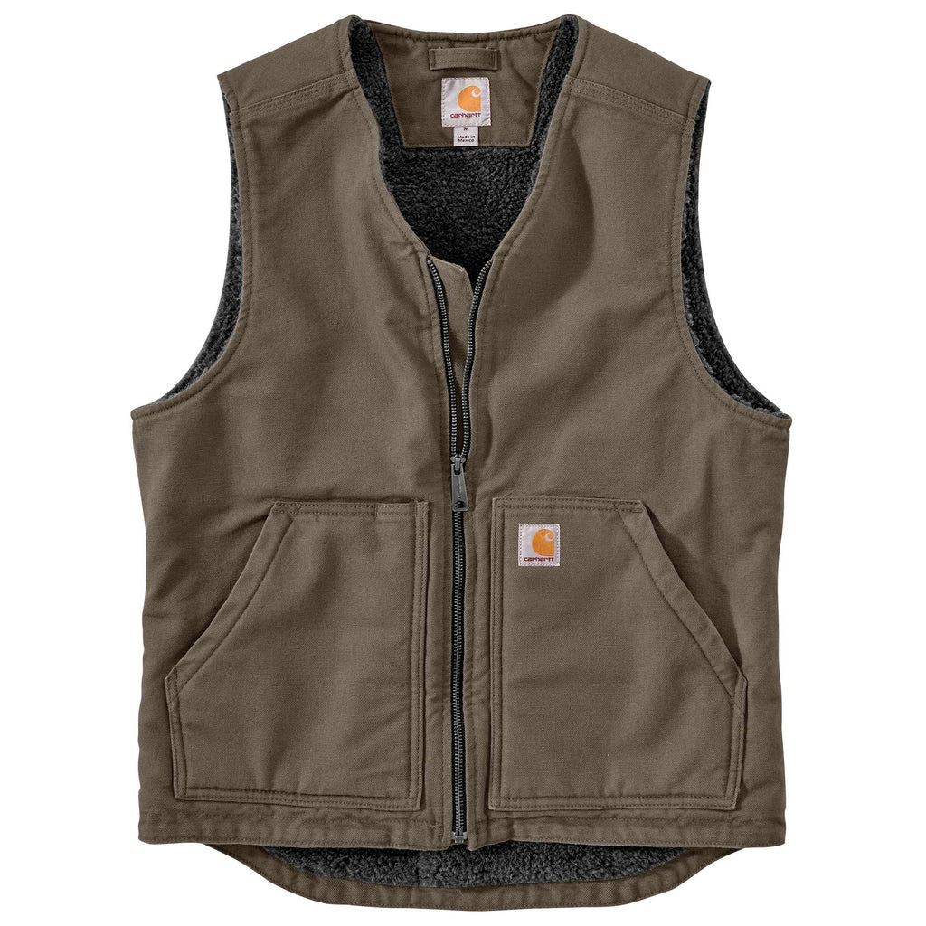 CARHARTT® WASHED DUCK SHERPA LINED VEST 104394