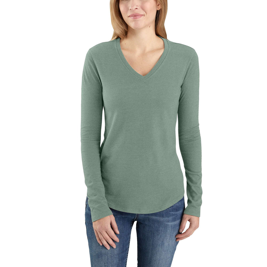 CARHARTT® RELAXED FIT MIDWEIGHT LONG SLEEVE V NECK T-SHIRT 104407