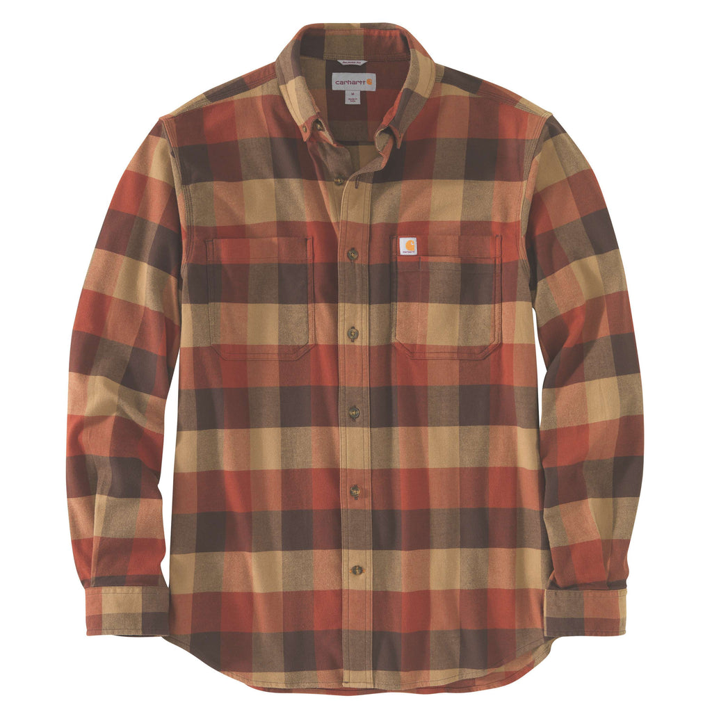 CARHARTT® RUGGED FLEX® RELAXED FIT FLANNEL LONG-SLEEVE PLAID SHIRT 104448