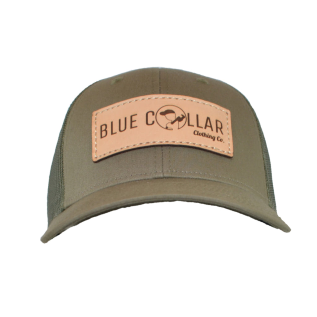 Blue Collar Clothing Co. Full Logo Low Profile Green Trucker 115
