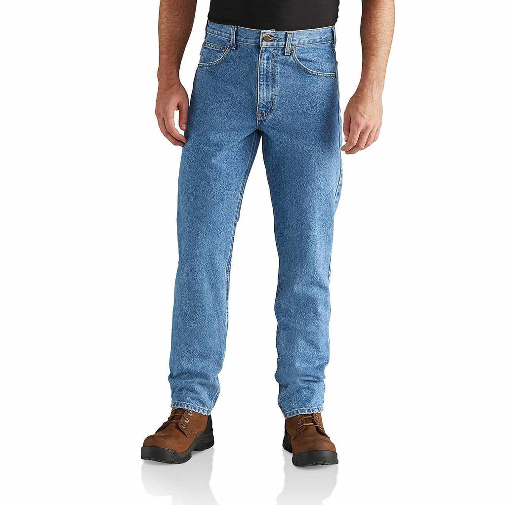 STRAIGHT/TRADITIONAL-FIT TAPERED-LEG JEAN B18