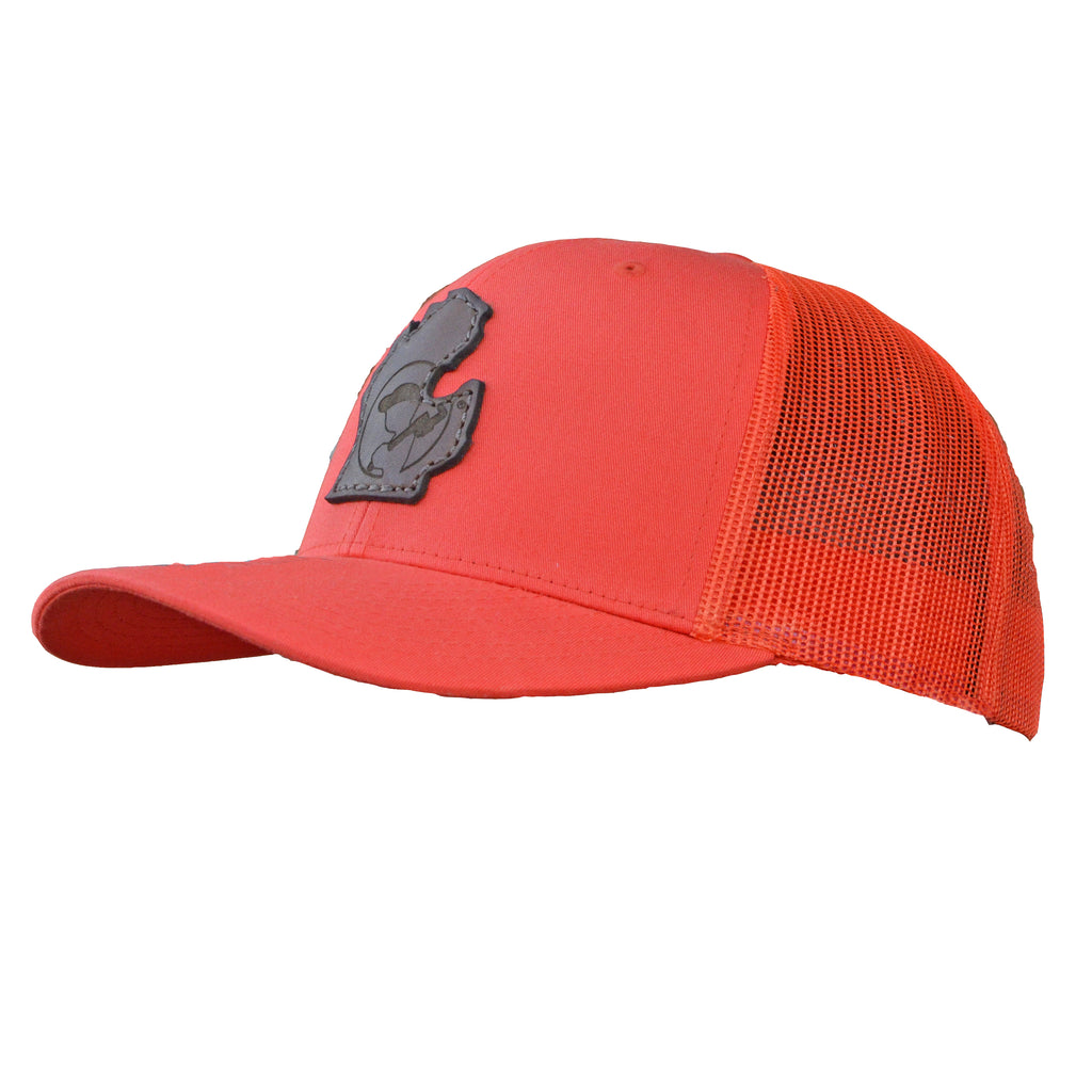 Blue Collar Clothing Co. LP Michigan Dark Logo Trucker Hat Orange 112
