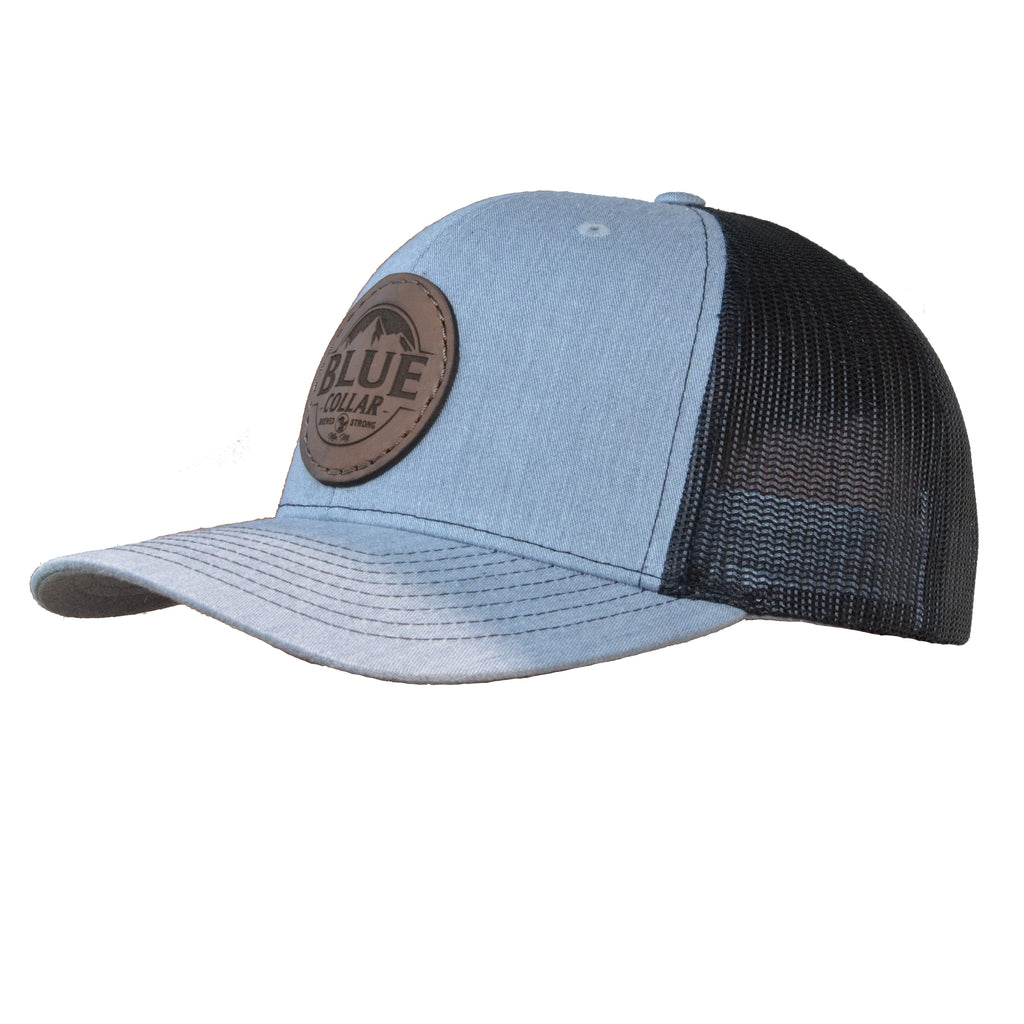 Blue Collar Clothing Co. Mountain Logo Trucker Hat Heather Grey/Black 112