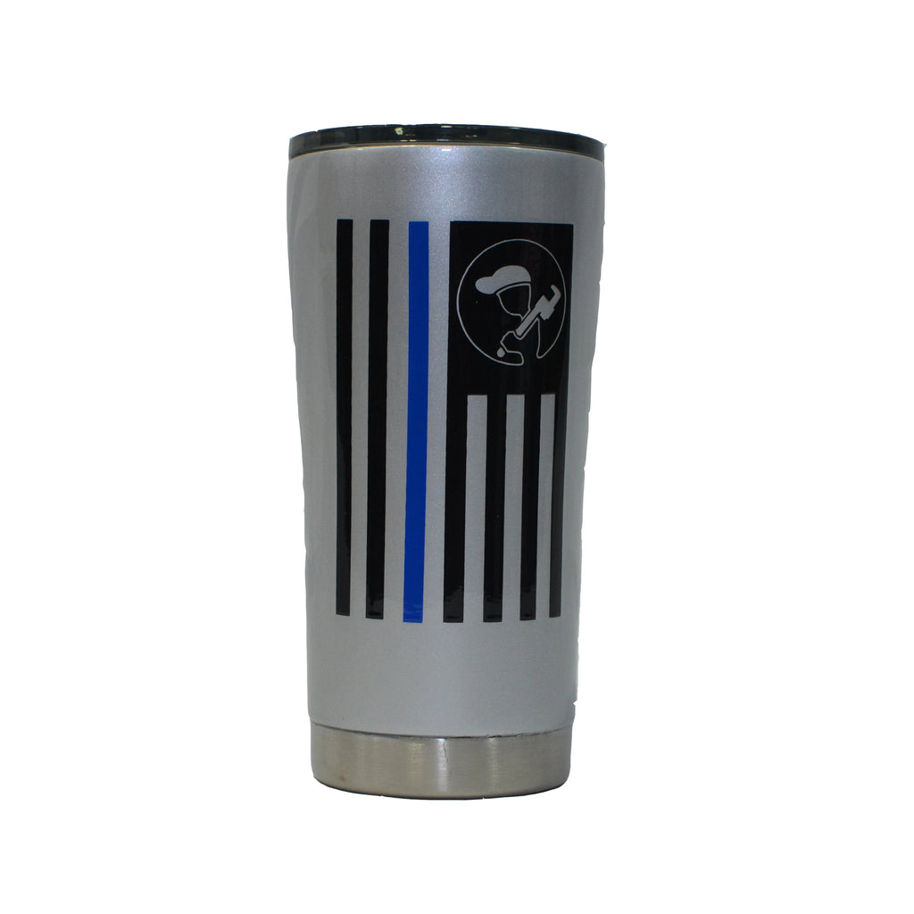 Blue Collar Clothing Co. Custom Dipped Flag Tumbler 20oz Light Gray