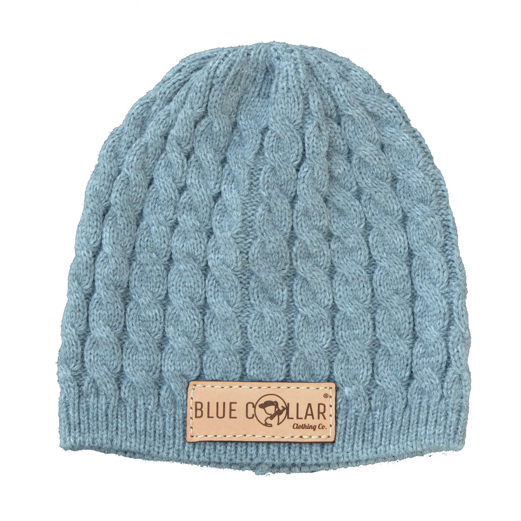 Cable Knit Beanie Gray 138