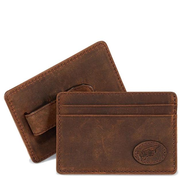 Redwing Leather Card Case with Money Clip
