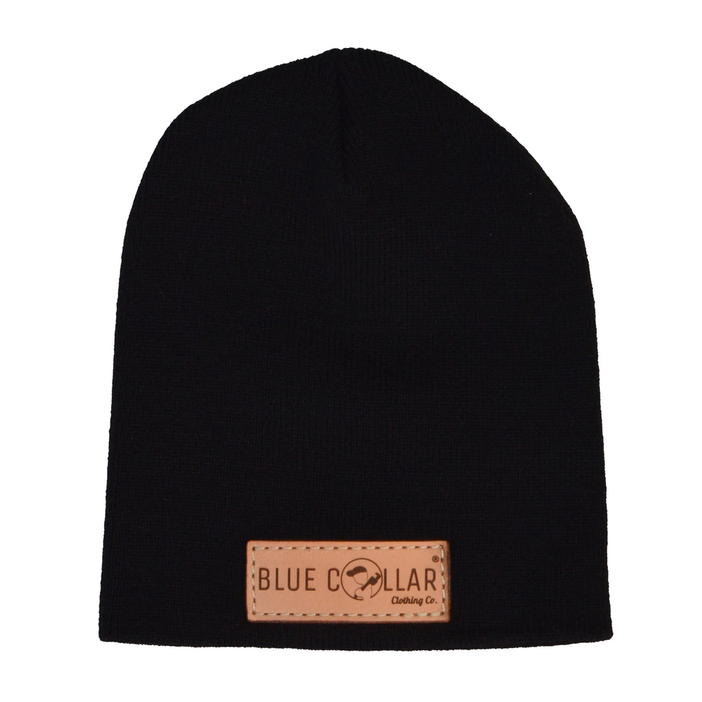 SOLID KNIT Beanie Black R15