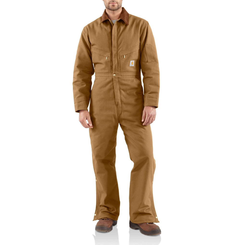 CARHARTT® WASHED DUCK INSULATED COVERALL X01