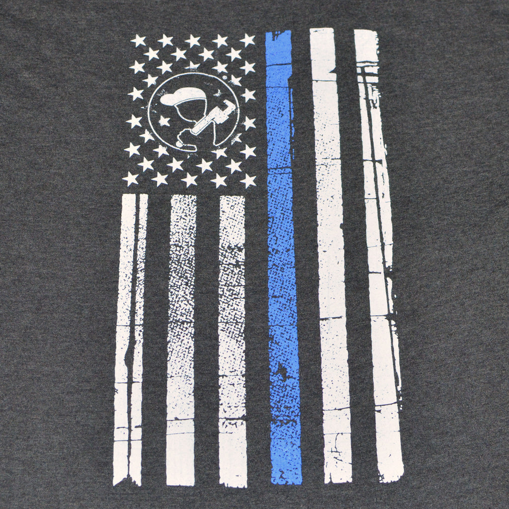 Men's Blue Collar Thin Blue Line Shirt-Carbon