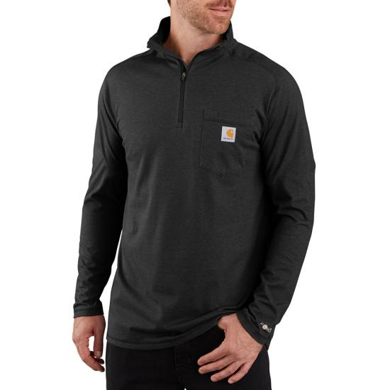 Force Relaxed Fit Quarter Zip Pocket T-Shirt 104255