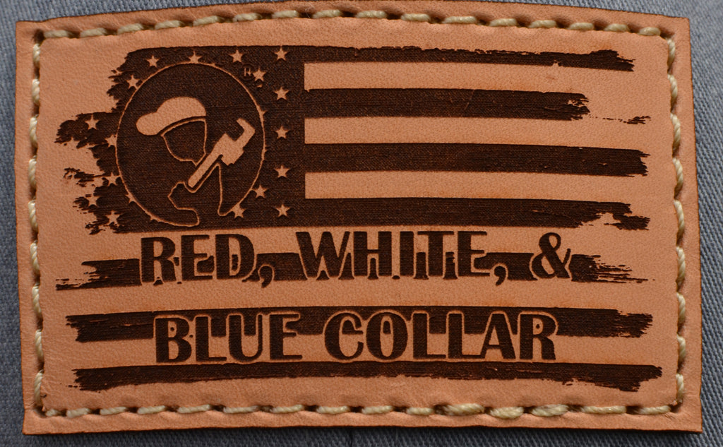Blue Collar Clothing Co. Red, White, & Blue Collar Trucker Heather Gray/'Merica 112