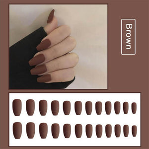 Matte Wearing Manicure Fake Nails(24PCS)