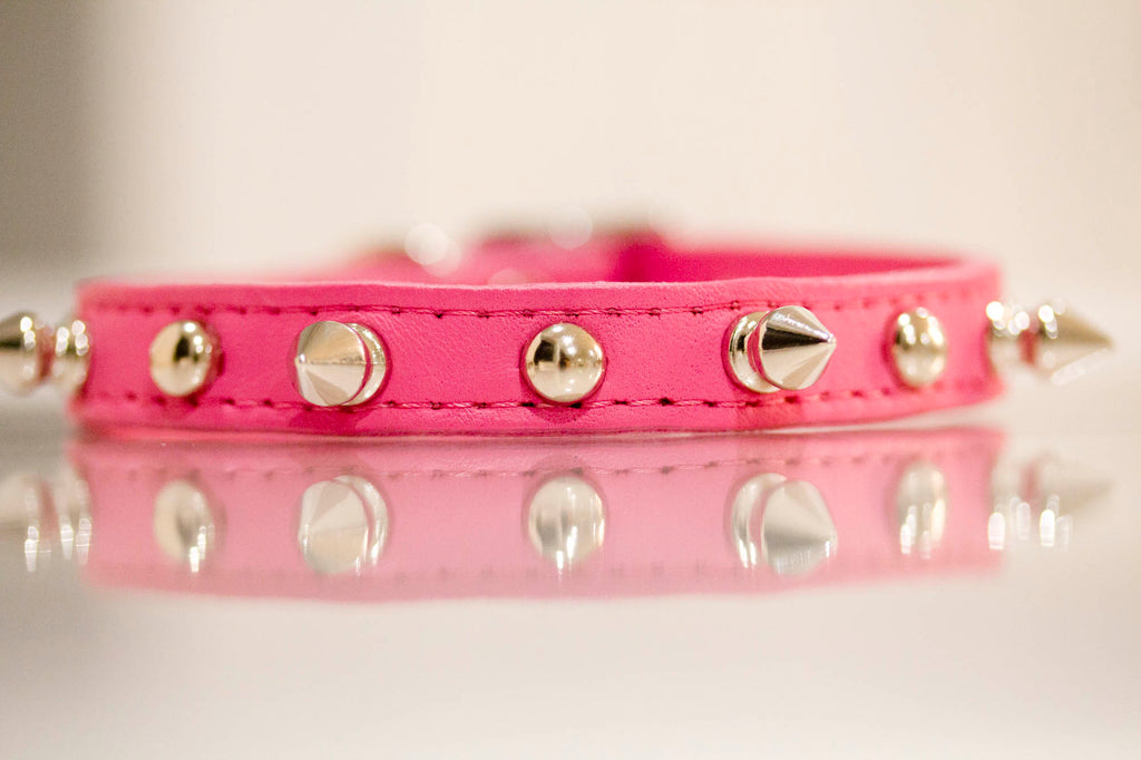 Leather Collar Spikes