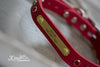 Red Leather Concho Dog Collar