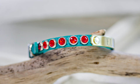 Tiny Crystal Collar Turquoise