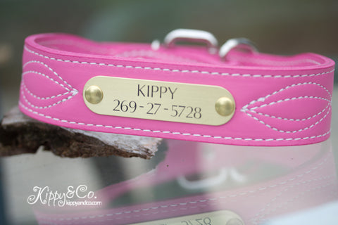 Pink Personalized Figure Eight Dog Collar