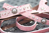 Pink Ostrich Crystal Concho Leash