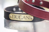 Personalized Leather Dog Collar With Engraved Name Plate