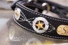 Texas Star Black Leather Collar